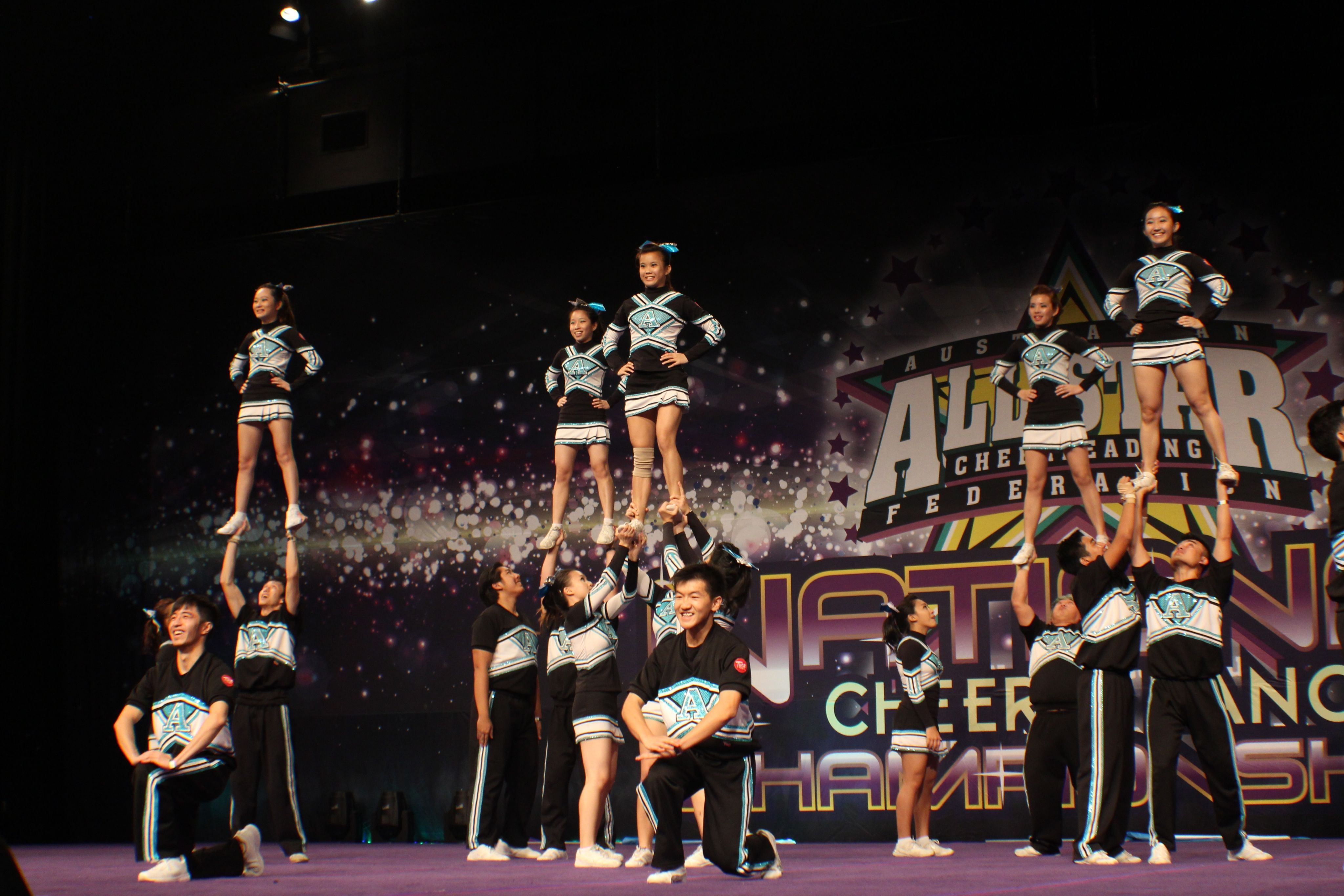 The Awesome All-Stars from Malaysia doing us proud with an excellent routine at the Australian All-Star Cheerleading Federation (AASCF) National Championship in Melbourne, Australia.