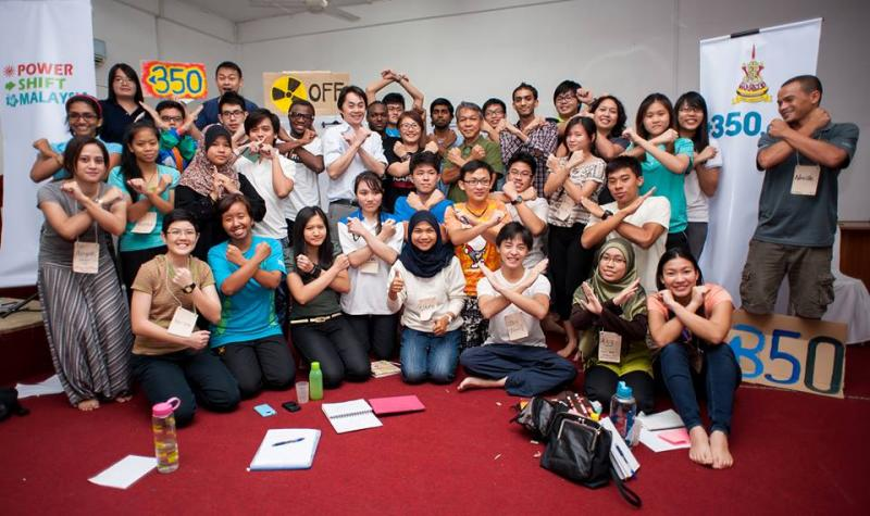 Participants of the #PowerShiftMsia climate change event are all ready to promote and and encourage environmental protection.