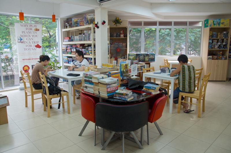 A homey merging of books and board games come together in perfect harmony at Boardgame Depot.