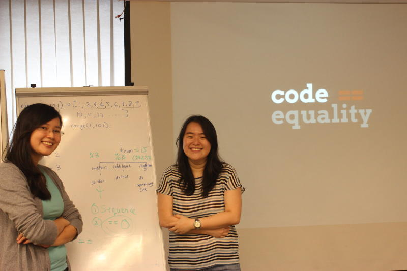 Sher Minn Chong (left) and Wunmin Wong are the founders of Code Equality, a non-profit initiative to promote computer science education among Malaysians.