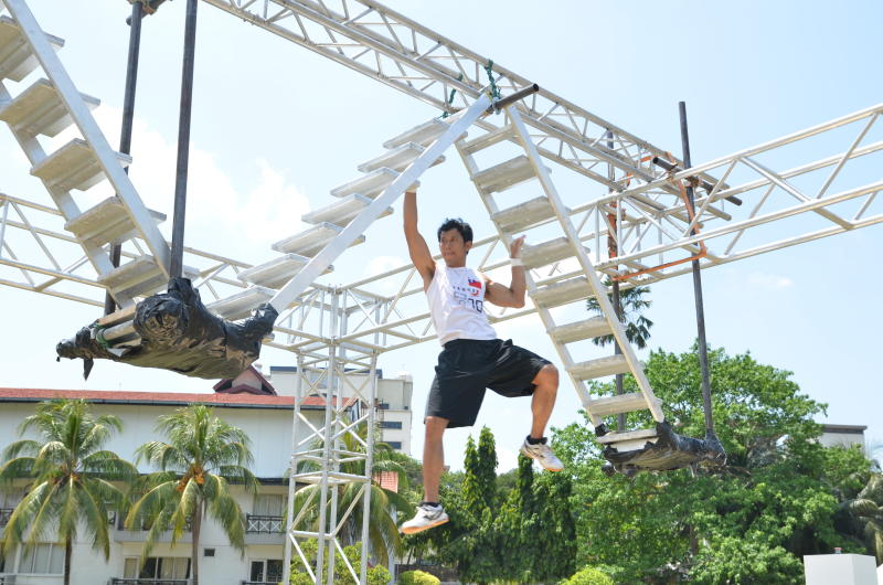 The Devil Steps is a physically demanding obstacle that requires lots of upper body strength.