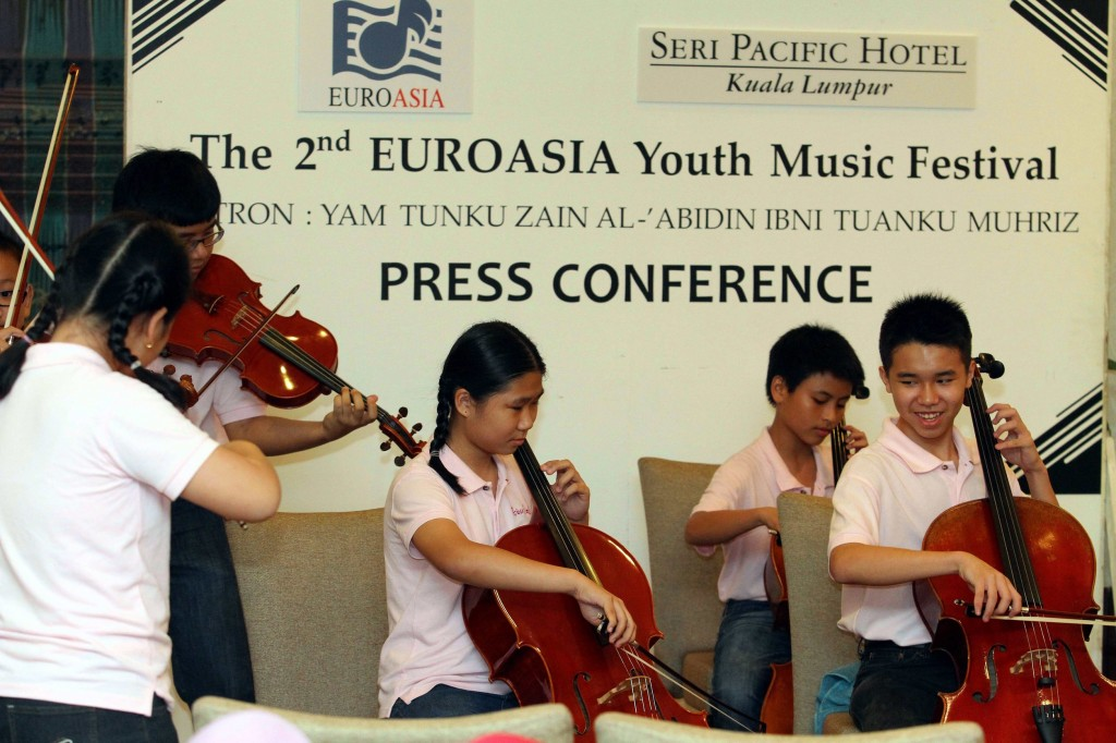 Starting them young: These young members of the Arioso Sinfonia have been training since they were about four years old.