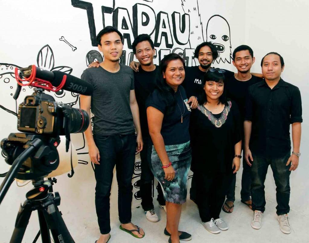 Motley Crew: The IkanPaos Kolektif team (Back row from left): Bakri Adnan, Firdaus Zulkifly, Ahmad Faris, Azizul Hakim and Ahmad Hafiqzuden; (Front row, from left): Vini Balan and Amalia Akbar