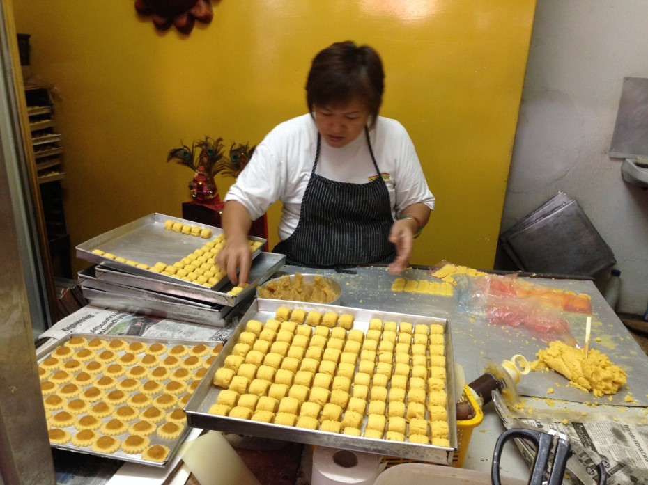 Owner of Madam Goh Nyonya Pineapple Tarts House, Goh Kiat Ka, has been selling handmade pineapple tarts for the past 14 years.
