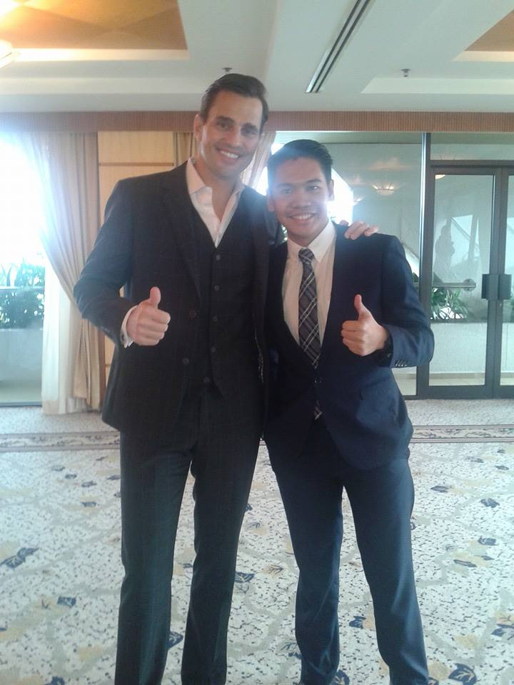 """Yabut met his idol – entrepreneur and winner of The Apprentice season one – Bill Rancic at an event in Kuala Lumpur. """"I was a big fan of Bill after watching him on The Apprentice and I told myself if there was Apprentice Philippines or Asia, I would join,"""" he said."""