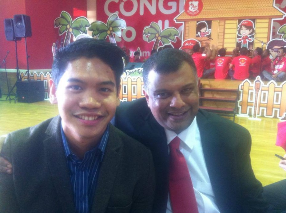 After winning The Apprentice Asia, Yabut (left) was hired by Tan Sri Tony Fernandes as Chief Of Staff at AirAsia under a one-year contract. He recently renewed his contract with the aviation company