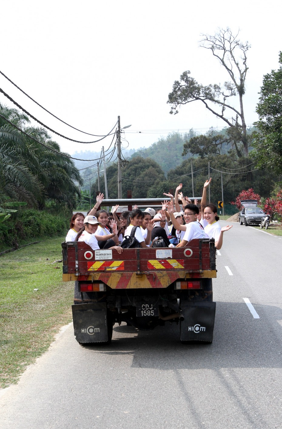 The journey to the Sungai Dalam orang asli village was an adventure in itself as the BRATs got to ride through the jungle on the back of a truck