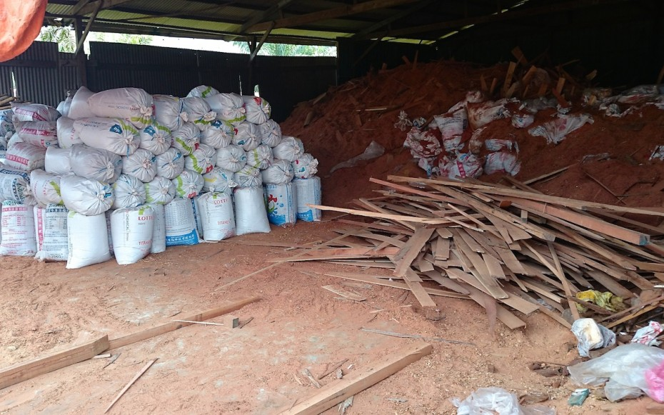 At the wood factory, Tee makes sure that not a single wood goes to waste.