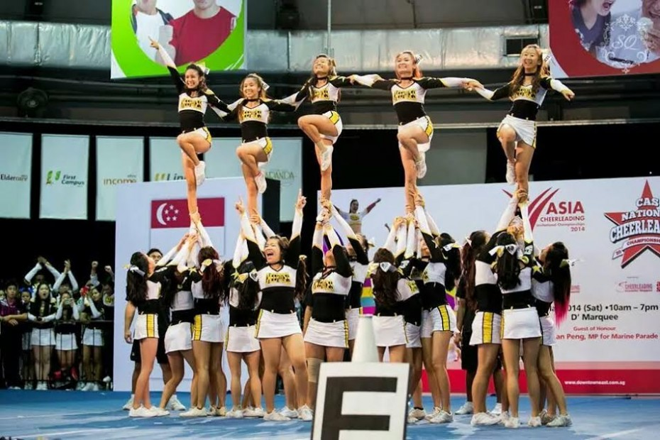 """""""In Cheer Aces, we have to work twice as hard and the risks are much higher because the stunts are more complicated."""" - Michelle Kong"""