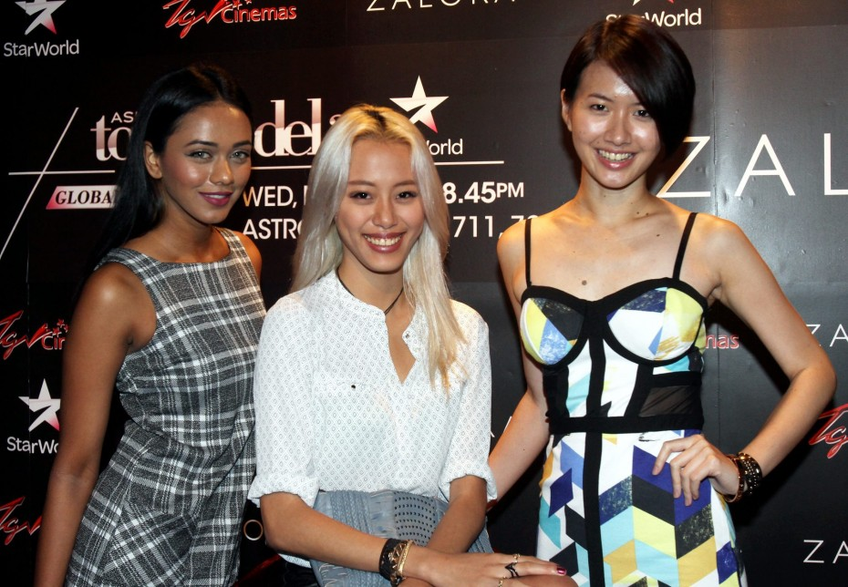 The girls with Sheena Liam, the then-unknown Malaysian who sensationally won the second season of Asia's Next Top Model.