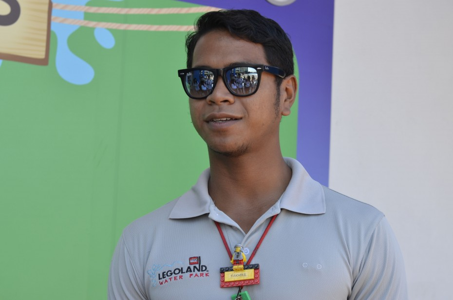 Ahmad Fakhrul Idham shut down his food business in order to take up a job as a lifeguard at Legoland Water Park, and he doesn't regret the decision one bit.