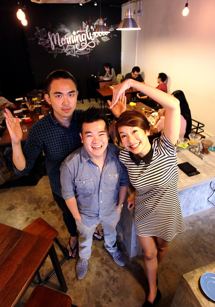 Reuben Kang, Marianne Tan and Jared Lee. Photo: S.S.KANESAN/The Star