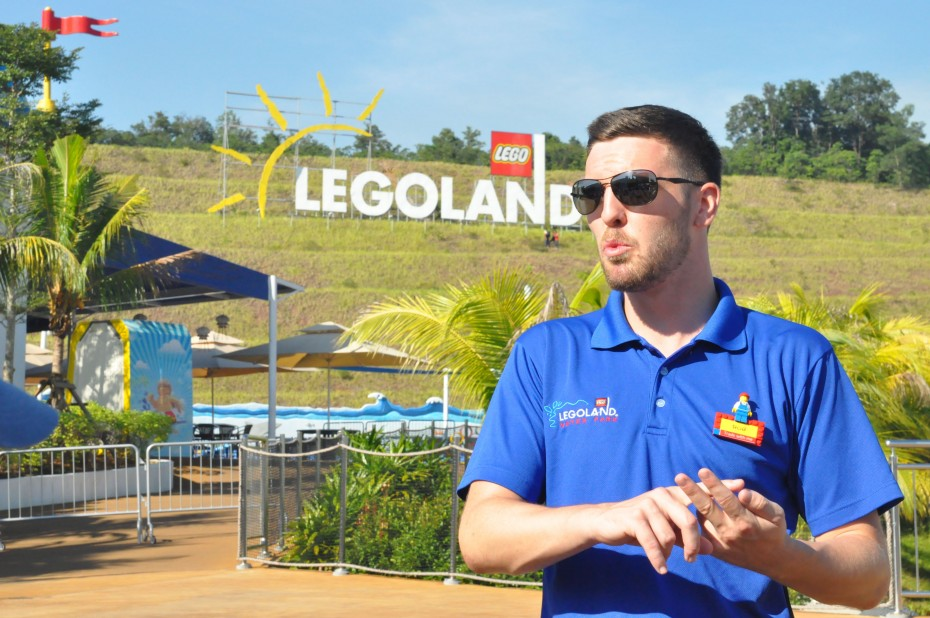 Everything is awesome: Robert Harrison, 30, took a gamble when he left his home in England for a job as the water park operations manager at Legoland Malaysia Resort. Now, he enjoys it here and calls Malaysia his home.