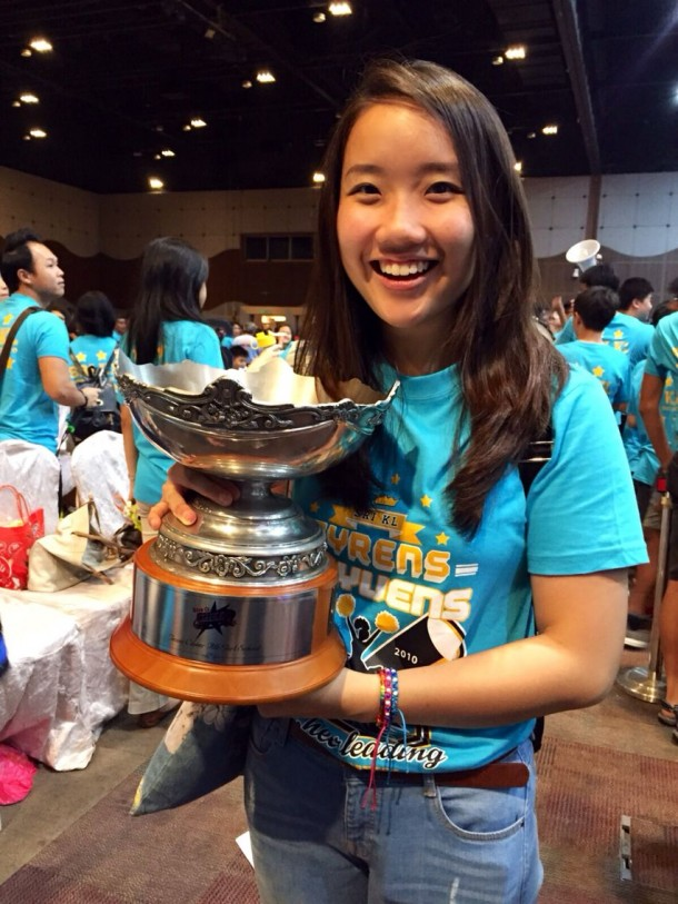 Cyrens former captain Amanda Lim, who was in town for her summer break, watched her team clinch its sixth consecutive title at this year's CHEER Finals. - Photo: Amanda Lim