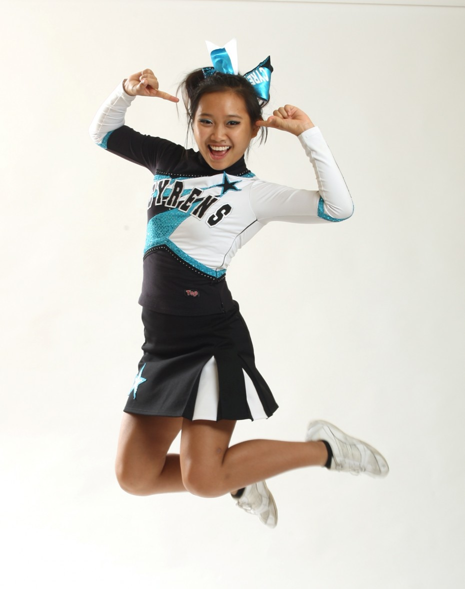 Genevieve started cheerleading as a member of the Rayvens in 2011 before eventually graduating to the All-Girls category after joining their sister team, the Cyrens.