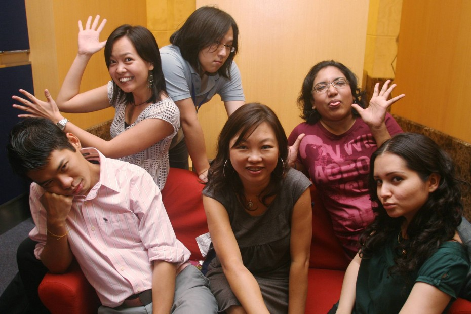 Soon (seated, second from left) with the R.AGE team back in 2008.