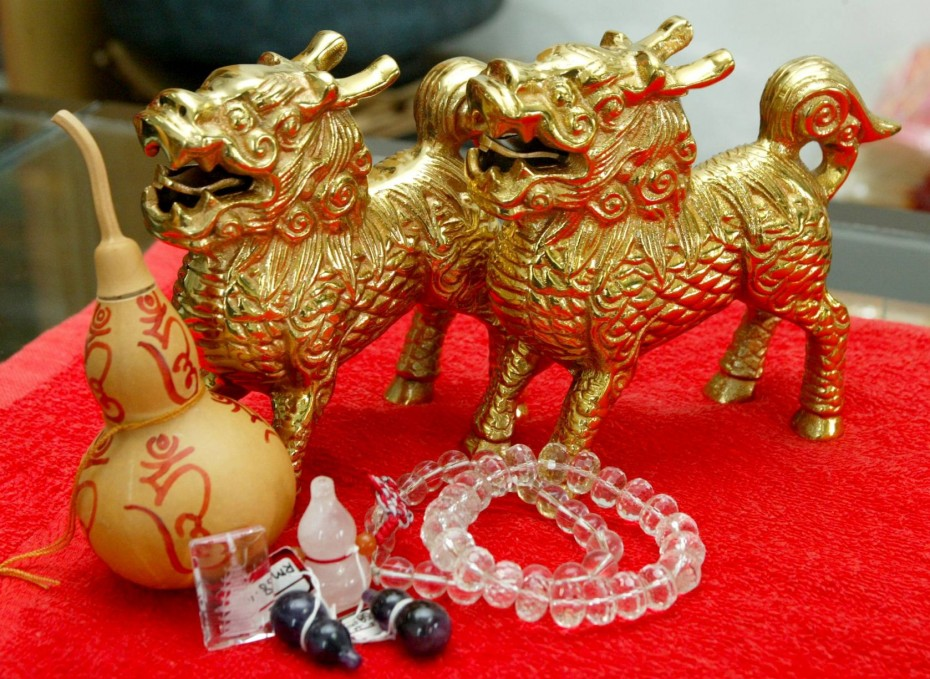Feng shui ornaments meant to ward off negative energy. Pic: The Star/S.S. KANESAN.