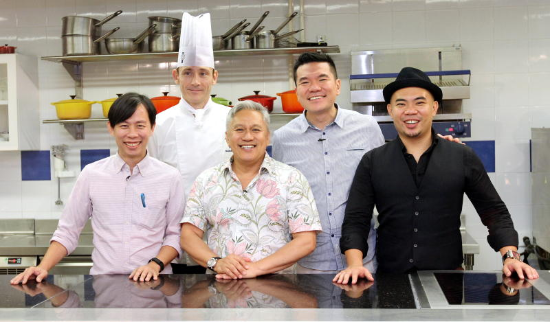 After all that delicious food, the judges were all smiles. From left to right: KY Speaks, Chef Rodolphe Onno, Chef Wan, Darren Chin, Tan Chung Liang