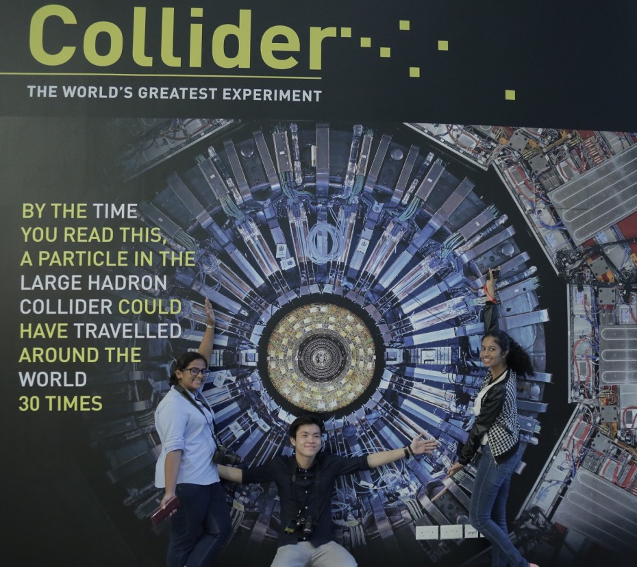 The Large Hadron Collider exhibition will be in the Lion City until mid-February. ― Photos: SAMANTHA CHOW/The Star