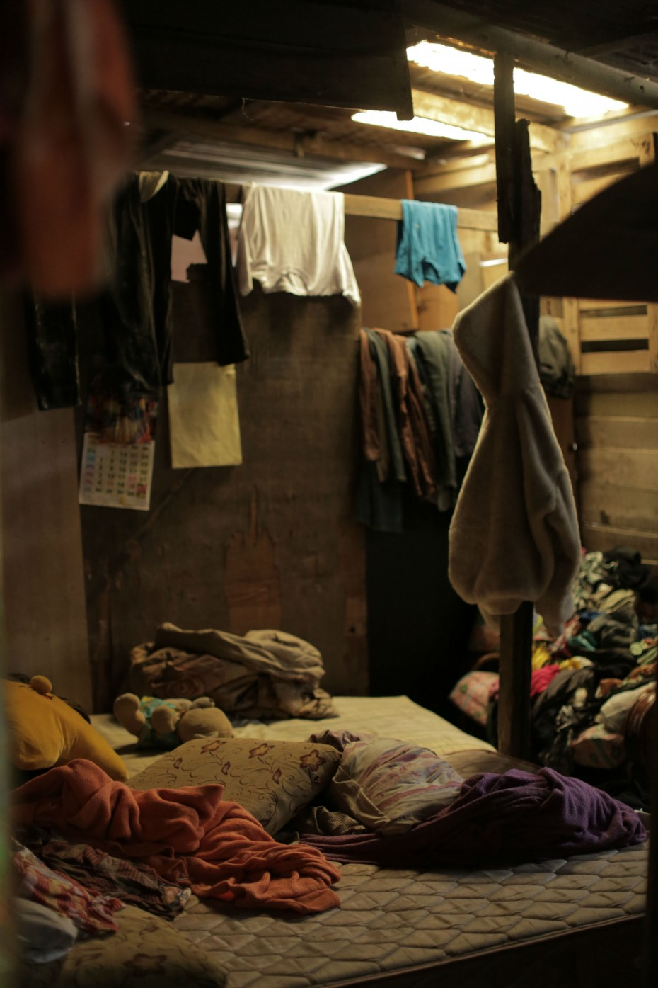 The bedroom where Mariyammah and her daughters sleep. Their home is basic, but to them it is home nonetheless. ― Photo by: ELROI YEE/The Star