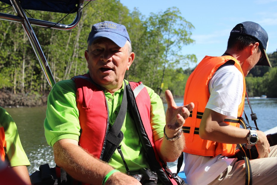 David Bradley sailed all the way from Sydney, Australia to Langkawi to carry out a Clean Up project for the environment. -- Photo by Kimmy Khoo