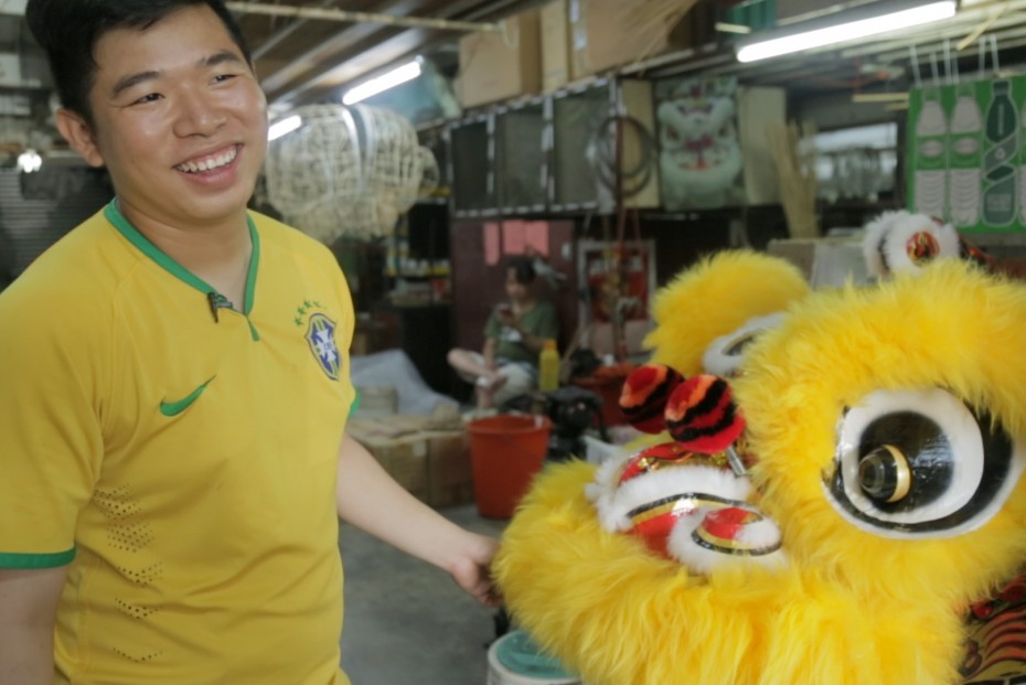 "Wong has been making lion heads for the last ten years, and foresees the industry continuing for a long time yet. ""Without lion heads, there will be no lion dance,"" he said. ""This industry won't die."""