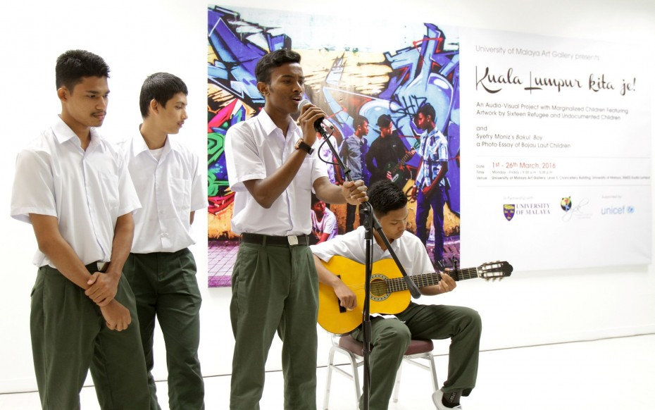 A music video featuring a rap song written and performed by the children are also on display at the exhibition. ― Photo: YAP CHEE HONG/The Star