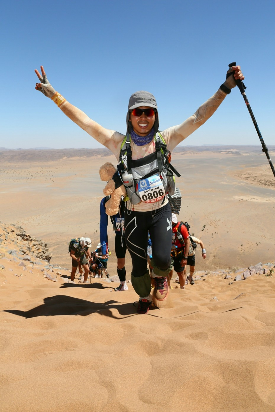 Red Ribbon youth icon Jeff Lau was in the Sahara Desert for the Marathon Des Sables – dubbed the world's toughest foot race – to raise funds for the Malaysian AIDS Foundation. — Handout