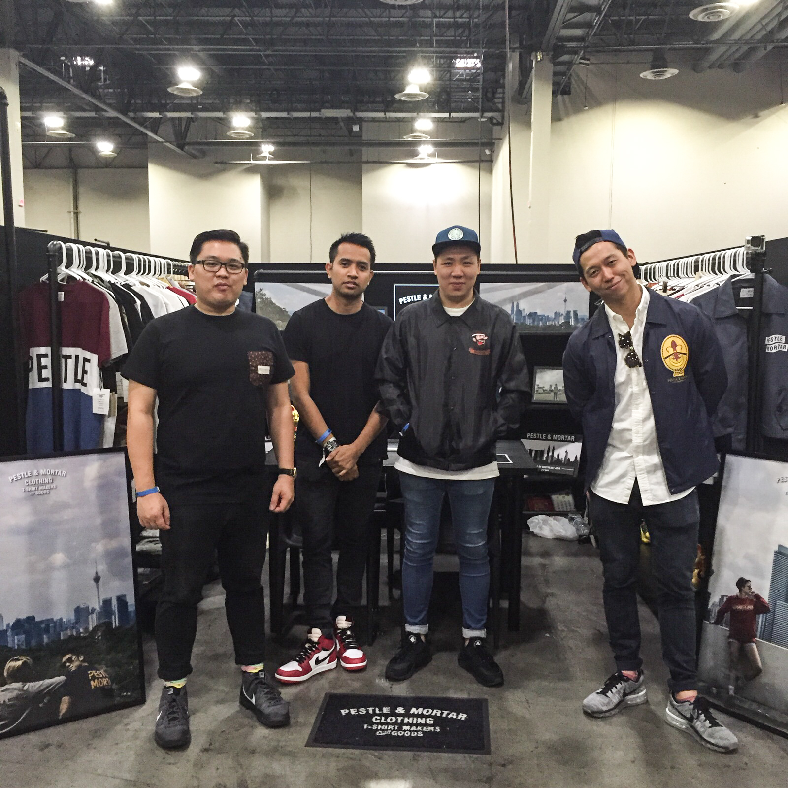 Koh (far right) and the Pestle & Mortar team were the first Malaysian clothing brand showcased at Agenda Las Vegas, a popular creative lifestyle trade show.