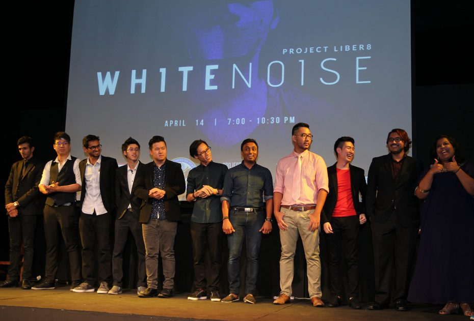 The finalists of the White Noise anti-human trafficking video competition. — Photo: GLENN GUAN/The Star