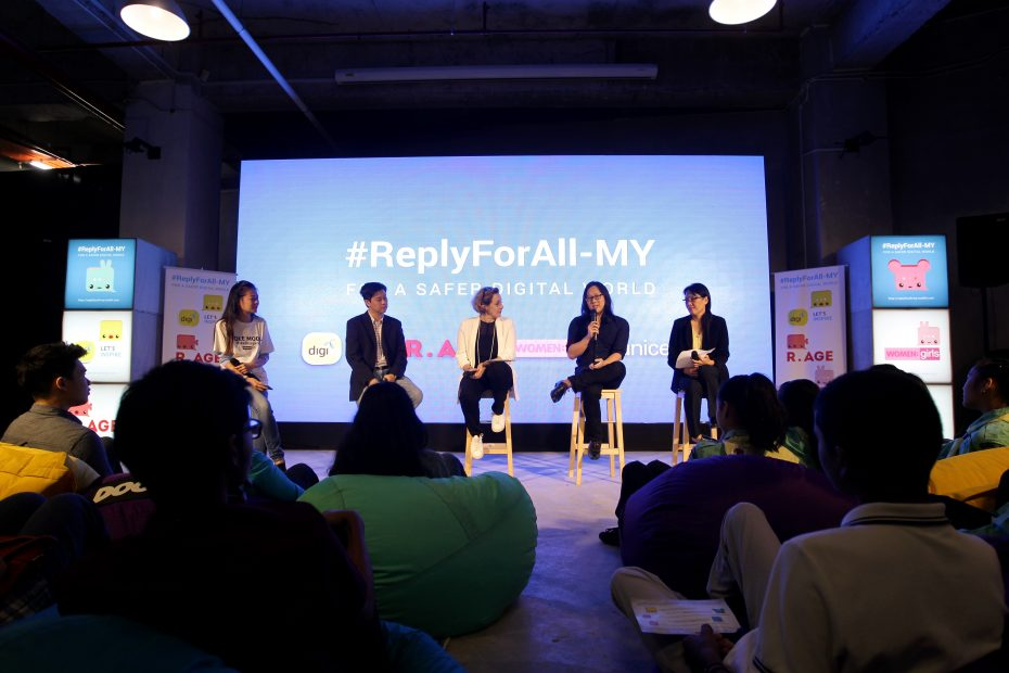 The panellists at the #ReplyForAll-My townhall, (from left) Low, Ling, Lemineur, Yee and Tan. — Photos: AZMAN GHANI/The Star