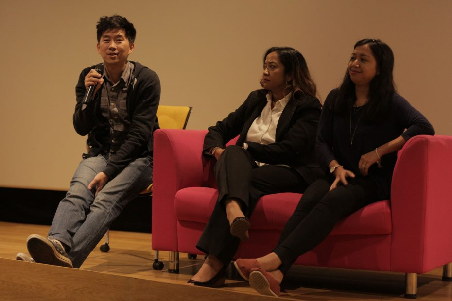 From left: Yee, Natasya and Maryam highlighted the importance of enacting new laws against child sexual grooming.