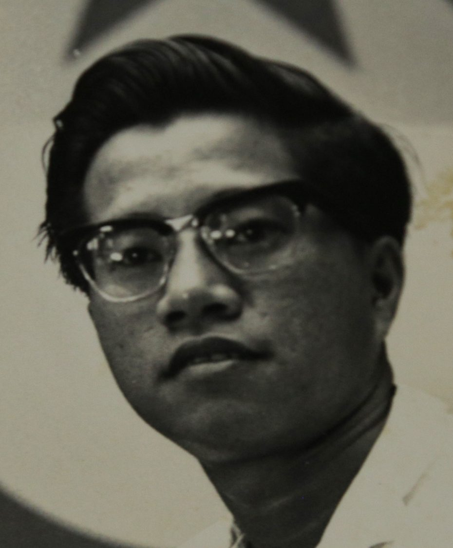 Ser Jin in his 20s. After the war, he joined the People's Action Party, and, later on, the Socialist Front.
