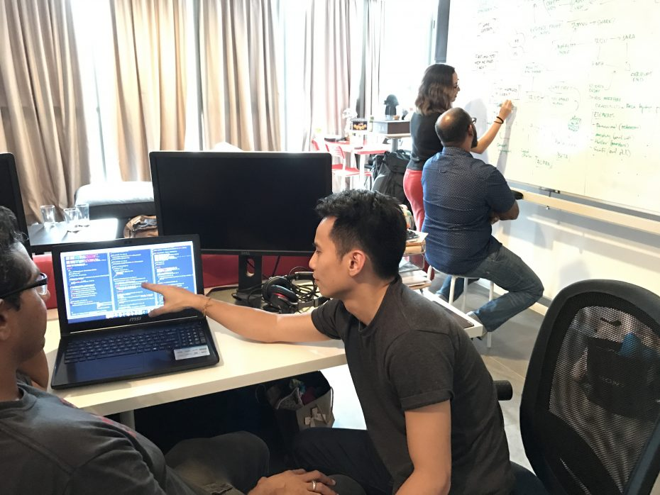 SIM is the product of a collaboration between three teams: game developer Accurve Studios, game publisher Monsoon Lab, and a writing team helmed by writer/film director Buddy Anwardi.