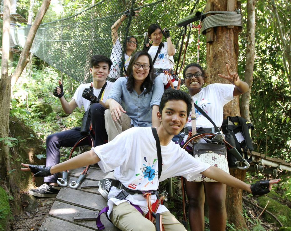 R.AGE editor Ian Yee (middle) with the BRATs at the 2015 Langkawi Camp. He believes that the camp is where young people can discover their potential. — SAMUEL ONG/The Star