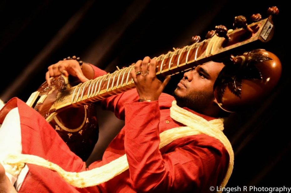 Keeran is the only young sitar player he knows, but he hopes this will change when more parents allow their children to take up traditional music instruments. — Handout