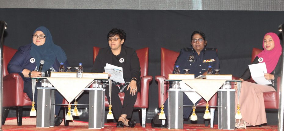 Azalina (second from left) has been the driving force behind the new child sexual crimes bill. — NORAFIFI EHSAN/The Star