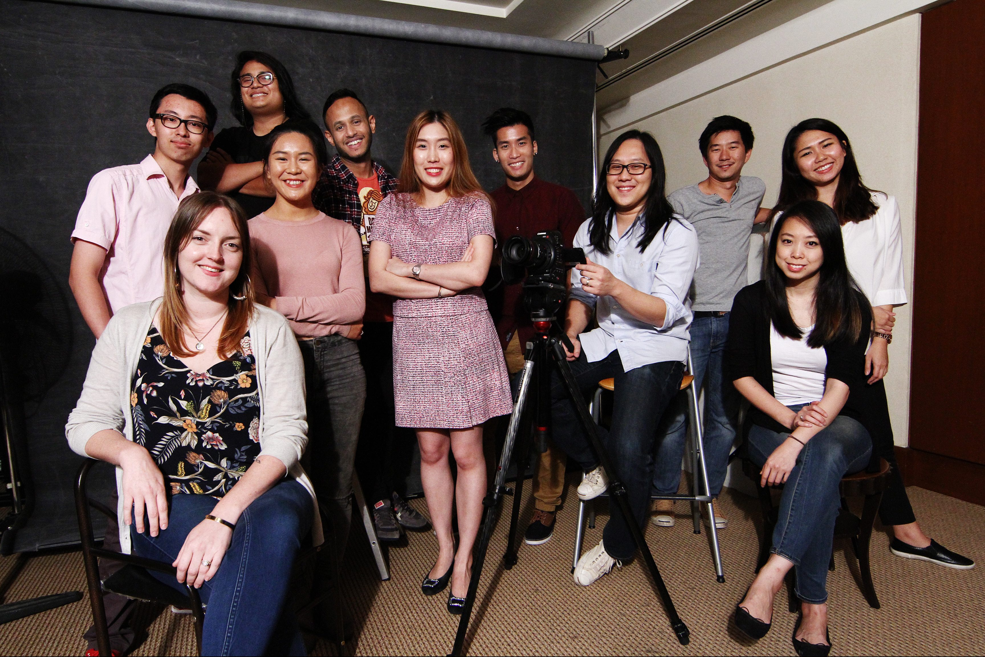 The R.AGE team of 2017: (From left) Claire Anthony (seated), Julien Chen, Hafriz Iqbal, Clarissa Say, Shanjeev Reddy, Natasha Venner-Pack, Hansel Khoo, Ian Yee, Elroi Yee, Lim May Lee (seated), Samantha Chow and Chen Yih Wen (not in picture). — RAYMOND OOI/ The Star